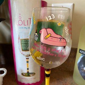 Lolita Teacher Wine Glass